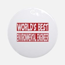 World's Best Environmental engineer Round Ornament