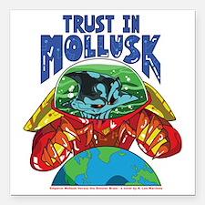"Emperor-Mollusk-World-WT Square Car Magnet 3"" x 3"""