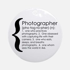 photographer Ornament (Round)