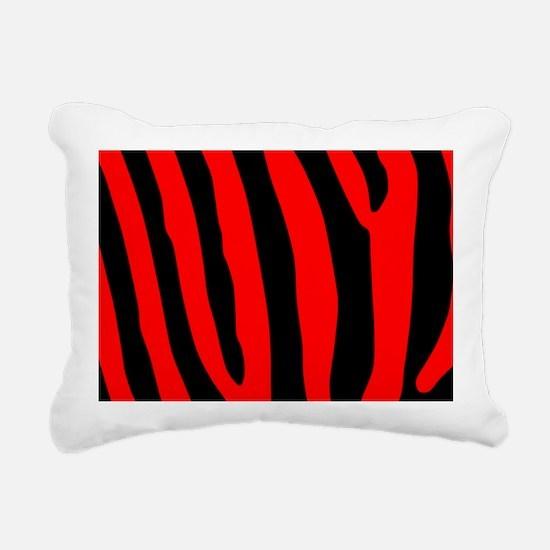 clutchbagredzebrapng Rectangular Canvas Pillow