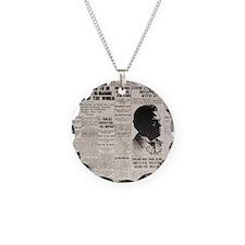 PEORIA HERALD TRANSCRIPT BIG Necklace