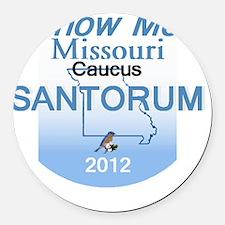 Santorum MISSOURI Round Car Magnet