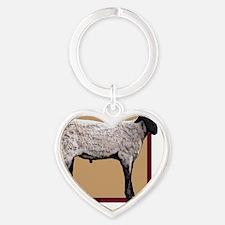 ESSheepTile Heart Keychain
