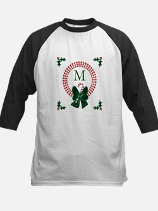 Dot Christmas Wreath Monogram Baseball Jersey