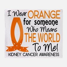 D Means The World To Me Kidney Cance Throw Blanket