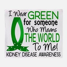 D Means The World To Me Kidney Disea Throw Blanket