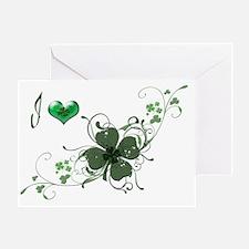 Love Shamrock, elegant design Greeting Card