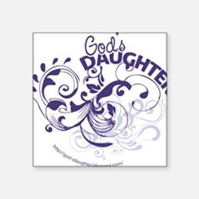 "godsdaughter_purple Square Sticker 3"" x 3"""