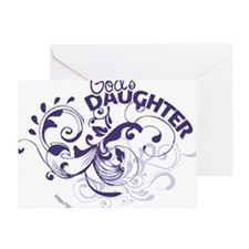 godsdaughter_purple Greeting Card