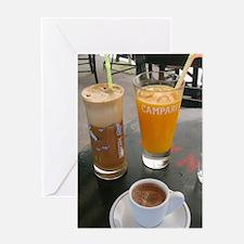 kafeneion_morning-drink_2010. Greeting Card