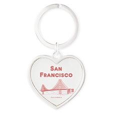 SanFrancisco_10x10_GoldenGateBridge Heart Keychain