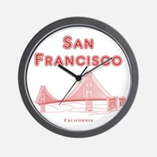 SanFrancisco_10x10_GoldenGateBridge_Lin Wall Clock