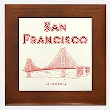 SanFrancisco_10x10_GoldenGateBridge_Li Framed Tile