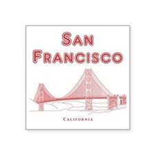 "SanFrancisco_10x10_GoldenGa Square Sticker 3"" x 3"""
