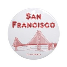 SanFrancisco_10x10_GoldenGateBridge Round Ornament