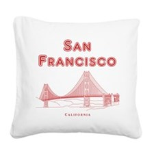 SanFrancisco_10x10_GoldenGate Square Canvas Pillow