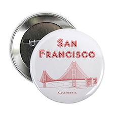 """SanFrancisco_10x10_GoldenGateBridge_L 2.25"""" Button"""