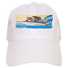 Creekrat_CARtoons_Drag_Boat-M Baseball Cap
