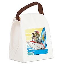 Creekrat_CARtoons_Drag_Boat-S Canvas Lunch Bag