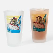 Creekrat_CARtoons_Drag_Boat-S Drinking Glass