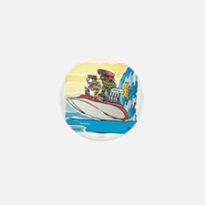 Creekrat_CARtoons_Drag_Boat-S Mini Button