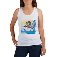 Creekrat_CARtoons_Drag_Boat-S Women's Tank Top