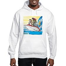 Creekrat_CARtoons_Drag_Boat-S Hoodie