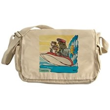 Creekrat_CARtoons_Drag_Boat-S Messenger Bag