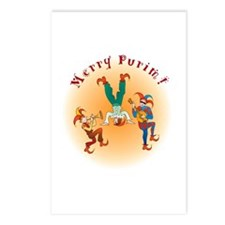 Purim Clowns' Postcards (Package of 8)