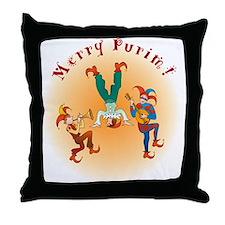 Purim Clowns' Throw Pillow