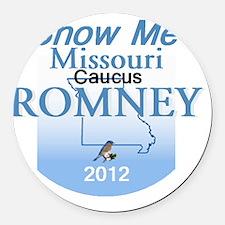 Romney MISSOURI Round Car Magnet