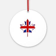 British in Canada Round Ornament