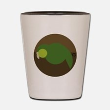 kakapo circle Shot Glass