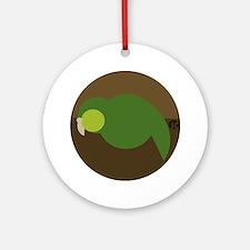 kakapo circle Round Ornament