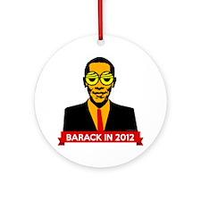 obama-pop Round Ornament
