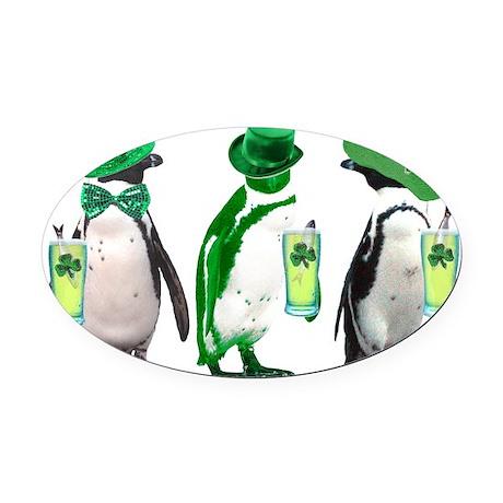 irishpenguins Oval Car Magnet