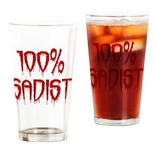 100% Sadist Drinking Glass