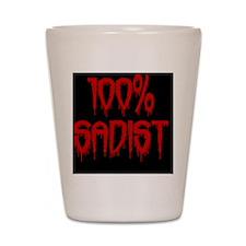 100% Sadist oval Shot Glass