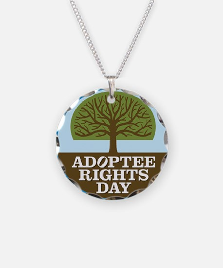 Giant Adoptee Rights Sticker Necklace