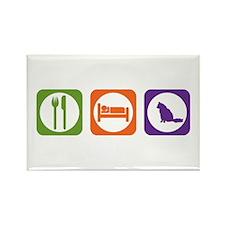 Eat Sleep Angora Rectangle Magnet