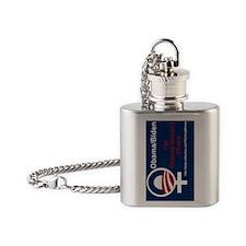 SIDEWAYS FLIP Obama The Thinking Wo Flask Necklace