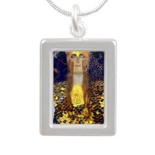 RM Klimt 32 Silver Portrait Necklace