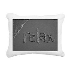 relax bw 8x10 Rectangular Canvas Pillow
