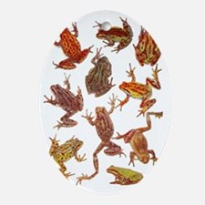 Tree Frogs Oval Ornament