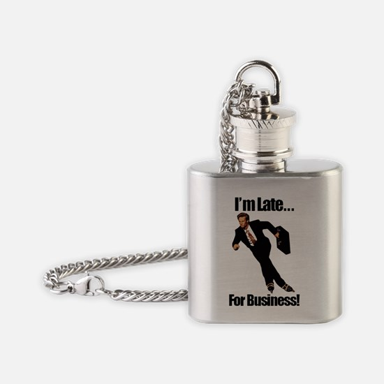 latetext Flask Necklace