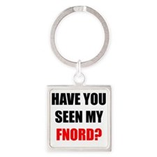 FNORD_10x10_apparel copy Square Keychain