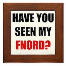 FNORD_10x10_apparel copy Framed Tile