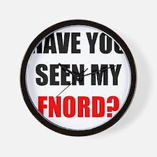FNORD_10x10_apparel copy Wall Clock