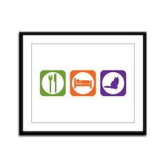 Eat Sleep Birman Framed Panel Print