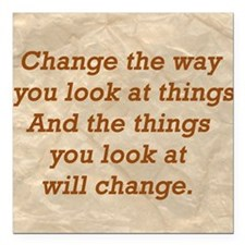 """Change-the-way Square Car Magnet 3"""" x 3"""""""